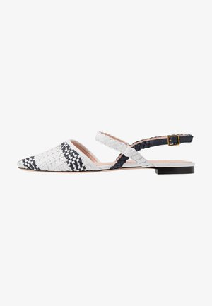 MARINA WITH ANKLE STRAP - Sandály - ivory/navy/silver