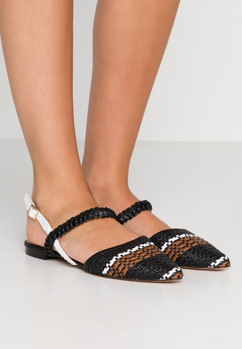 J.CREW - MARINA WITH ANKLE STRAP - Sandals - black