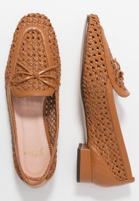 J.CREW - AVENUE LOAFER BOW - Slip-ons - roasted pecan - 3