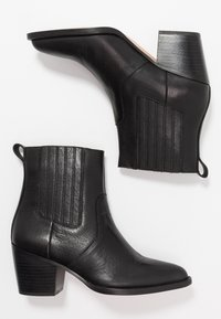 J.CREW - CHELSEA WESTERN BOOT - Cowboy/biker ankle boot - black - 3