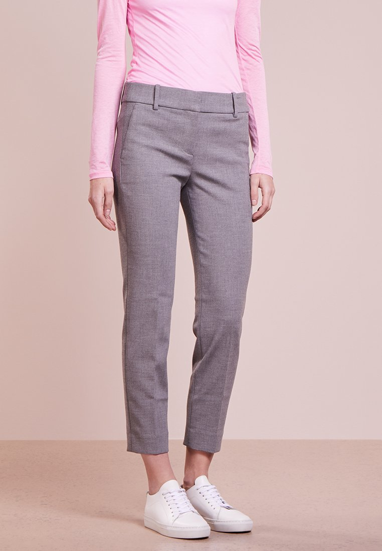 J.CREW - CAMERON CROP PANT FOUR SEASON STRETCH - Pantalones - heather graphite
