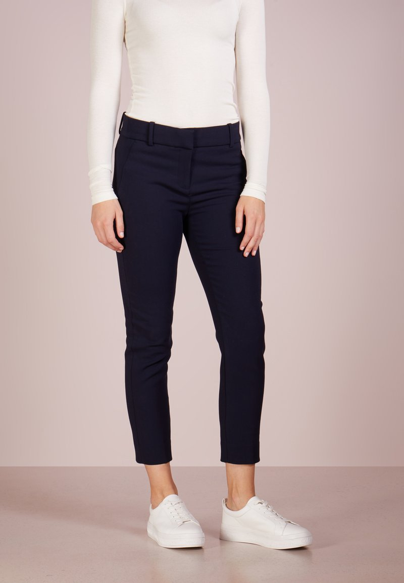 J.CREW - CAMERON CROP PANT FOUR SEASON STRETCH - Trousers - navy