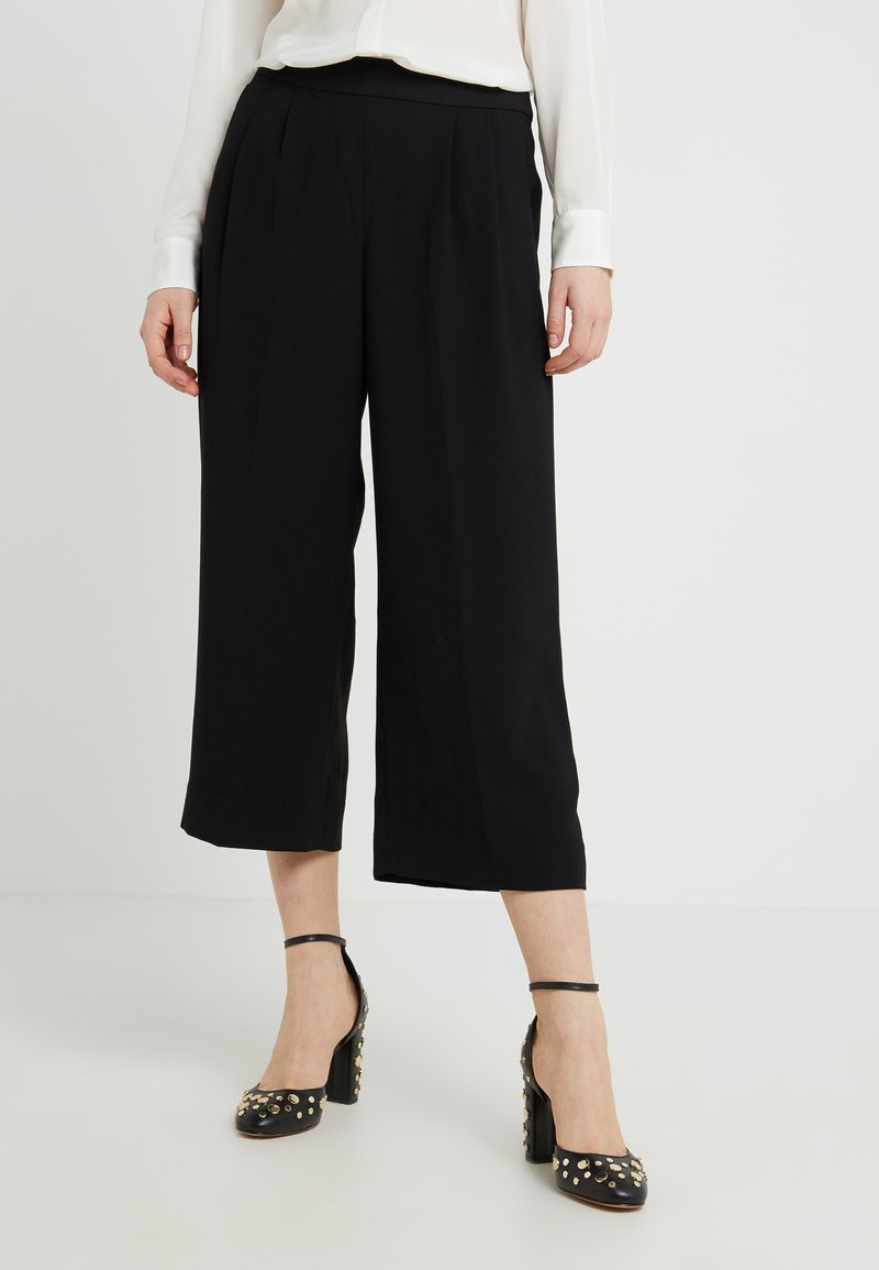 J.CREW - CROPPED EASY PANT - Trousers - black