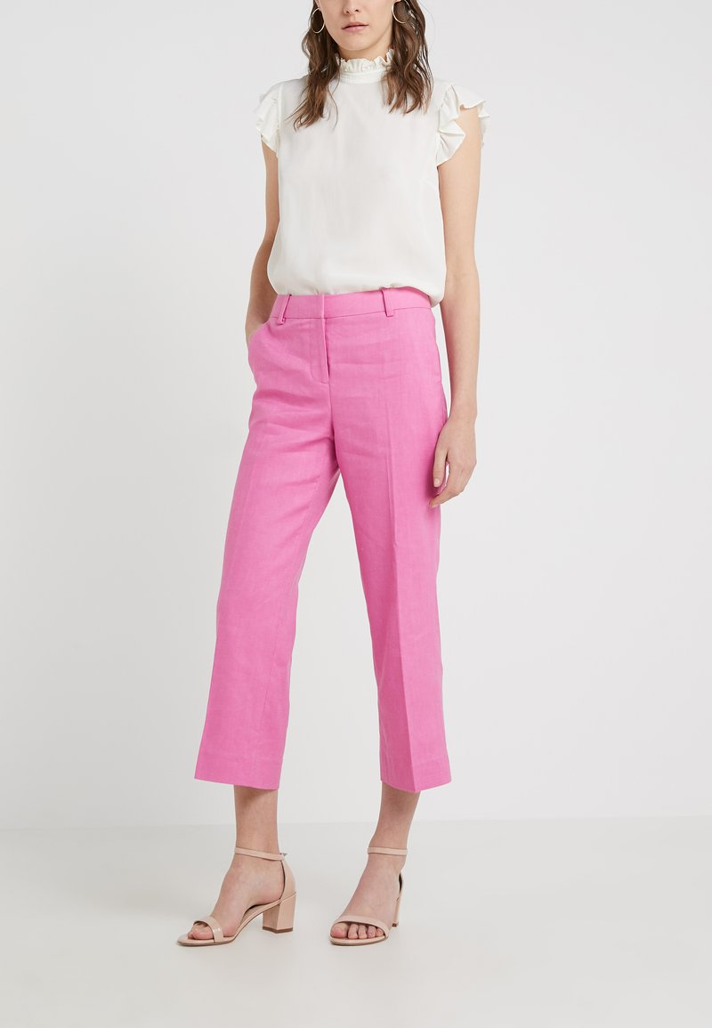 J.CREW - EVERYBODY PANT STRETCH TRAVELER  - Trousers - vivid fuchsia