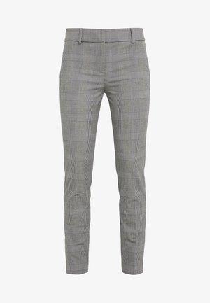 FULL LENGTH CAMERON PANT IN GLEN PLAID - Spodnie materiałowe - black/blue/ivory