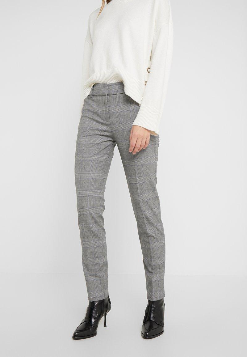 J.CREW - FULL LENGTH CAMERON PANT IN GLEN PLAID - Trousers - black/blue/ivory