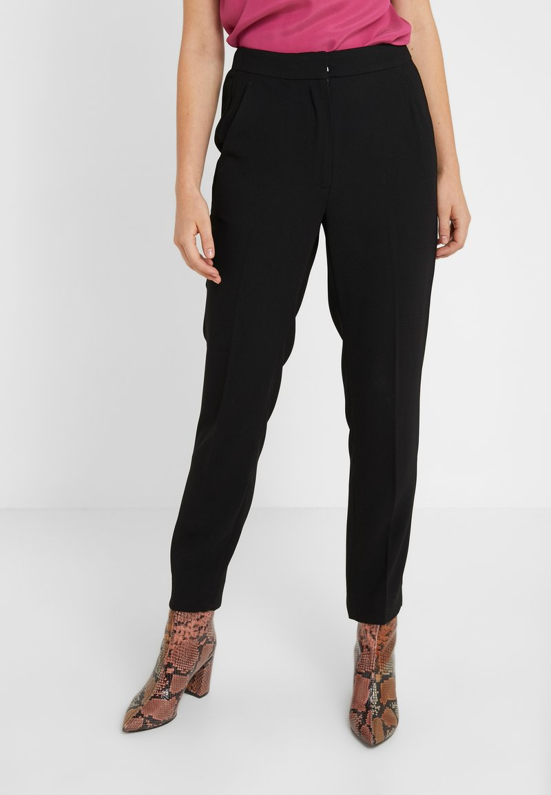 J.CREW - HIGH RISE EASY PANT LUCKY  - Trousers - black
