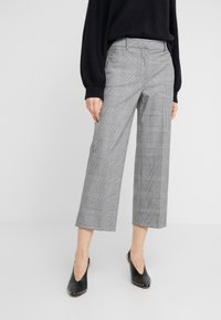 J.CREW - Spodnie materiałowe - black / blue / ivory - 0