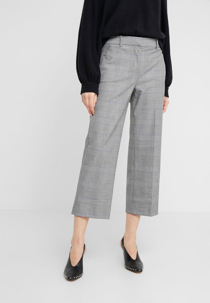 J.CREW - Spodnie materiałowe - black / blue / ivory