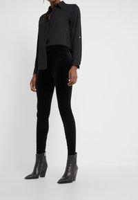 J.CREW - VELVET  - Leggings - black - 0
