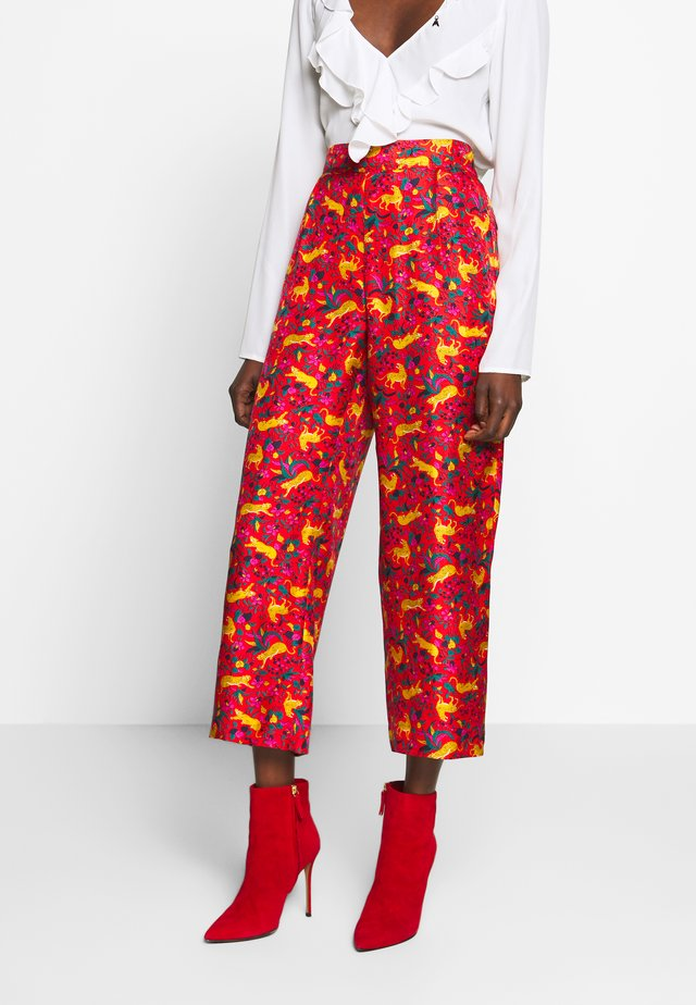 CERISE CAT PANT - Kangashousut - red