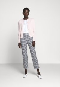 J.CREW - GEORGIE PANT IN GINGHAM WITH BUTTONS - Trousers - navy/ivory - 1
