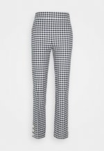 GEORGIE PANT IN GINGHAM WITH BUTTONS - Trousers - navy/ivory