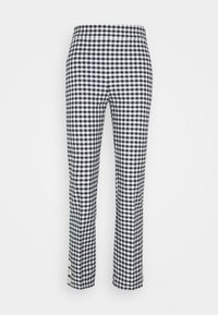 J.CREW - GEORGIE PANT IN GINGHAM WITH BUTTONS - Trousers - navy/ivory - 6