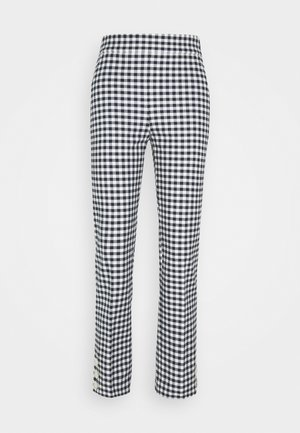 GEORGIE PANT IN GINGHAM WITH BUTTONS - Bukse - navy/ivory
