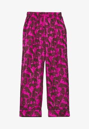 BAEZ LIONS - Trousers - fuchsia/brown