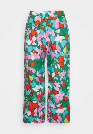 TARYN PANT LEAFY - Trousers - purple/green