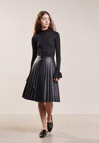 J.CREW - A-line skirt - black - 1