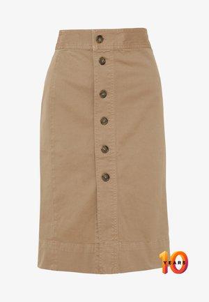 JONES BUTTON FRONT MIDI EVERYDAY - A-line skirt - dusty khaki