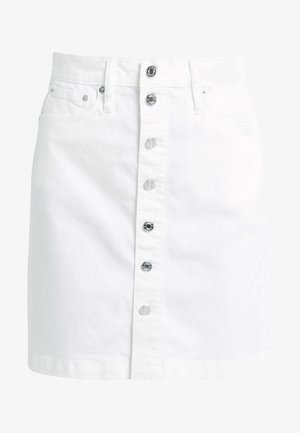 BUTTON FRONT SKIRT - Jupe en jean - white