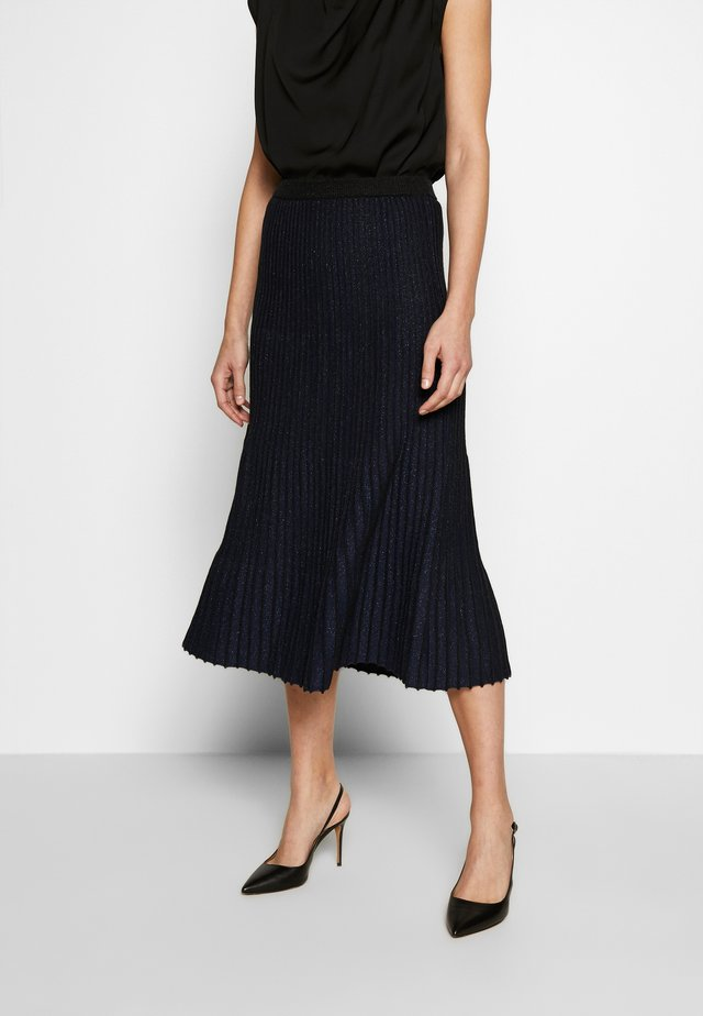 SKIRT - A-line skjørt - black/navy