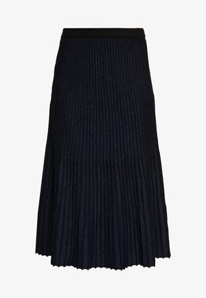 SKIRT - Falda acampanada - black/navy