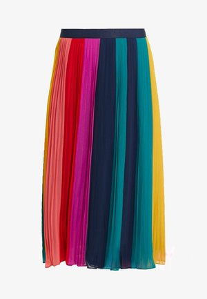 SUNBURST PLEATED SKIRT - Gonna a campana - rainbow/black