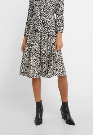 OCELOT PLEATED LEOPARD SKIRT - Spódnica trapezowa - natural multi