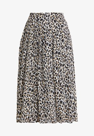 OCELOT PLEATED LEOPARD SKIRT - A-linjainen hame - natural multi