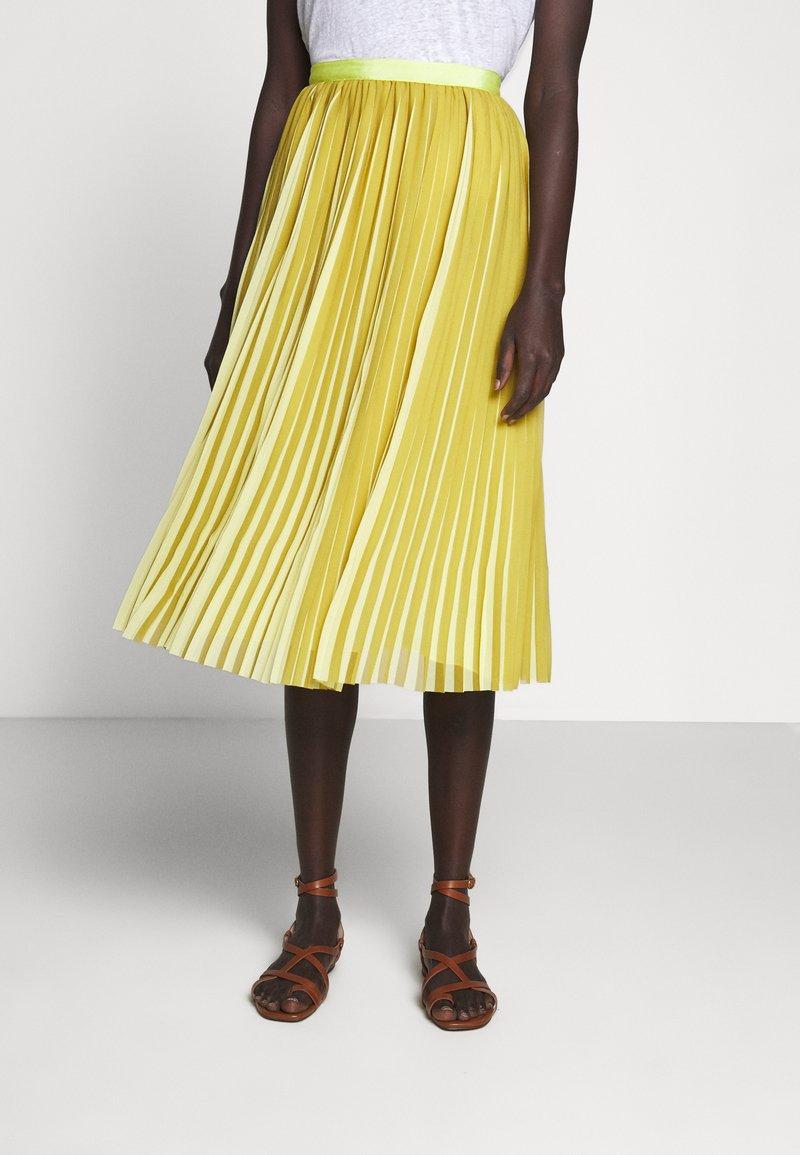 J.CREW - DEE SKIRT STRIPED - A-line skirt - golden citrus
