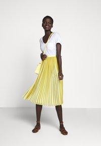 J.CREW - DEE SKIRT STRIPED - A-line skirt - golden citrus - 1