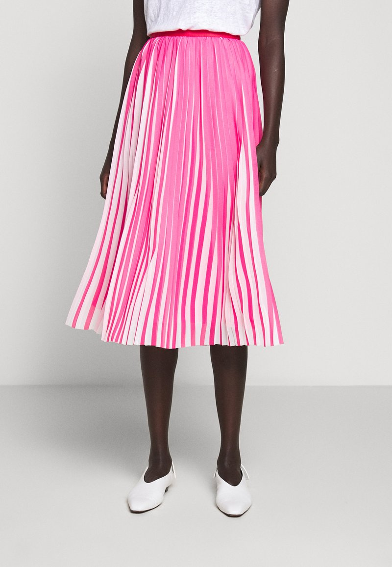J.CREW - DEE SKIRT STRIPED - A-line skirt - fuchsia/ivory