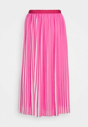 DEE SKIRT STRIPED - A-line skirt - fuchsia/ivory