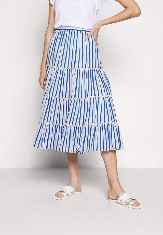 VOILE MIDI - A-line skirt - blue/multi