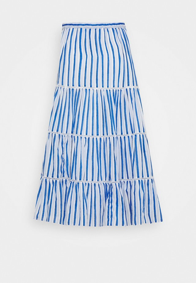 VOILE MIDI - A-line skirt - blue