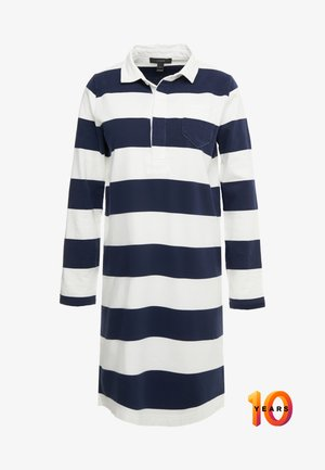 HERITAGE RUGBY SHIFT DRESS - Day dress - navy/ivory