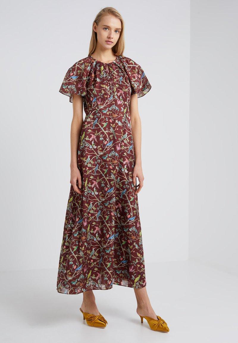 J.CREW - ROME DRESS MENAGERIE - Maksimekko - mahogany/multi