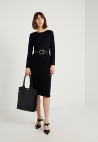 J.CREW - DRESS SOLID - Robe en jersey - black - 1