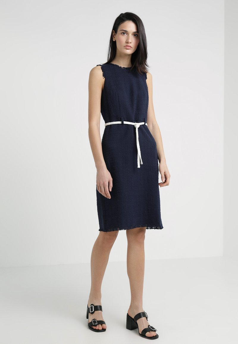 J.CREW - KARLA TEXTURED SOLID DRESS - Freizeitkleid - navy