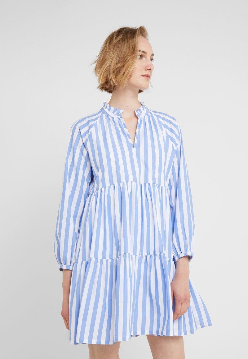 J.CREW - REBECCA DRESS - Day dress - blue/white