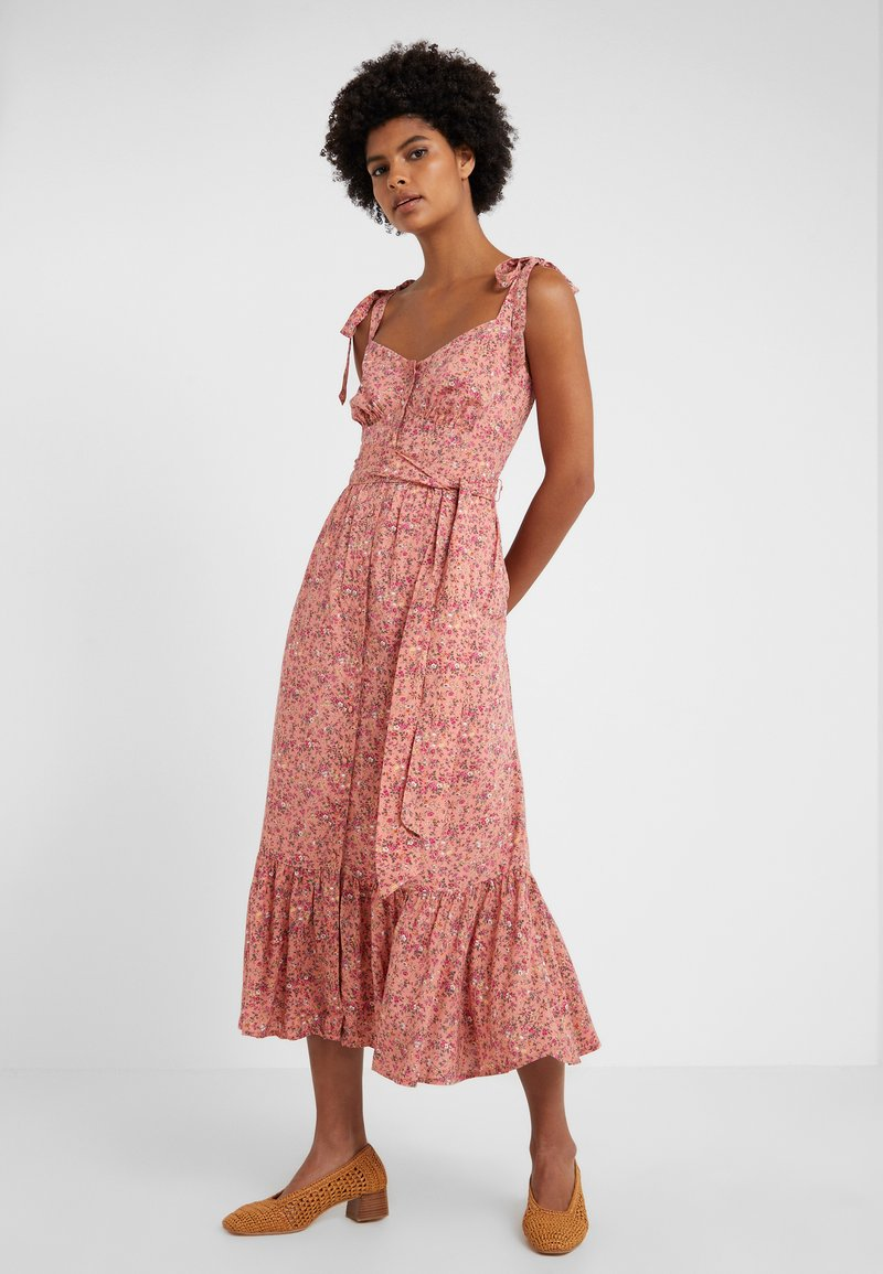 J.CREW - STRAPPY FRONT DRESS BLUSH MEDLY  - Maxi dress - peach/multi