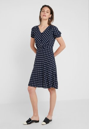 Day dress - navy/ivory