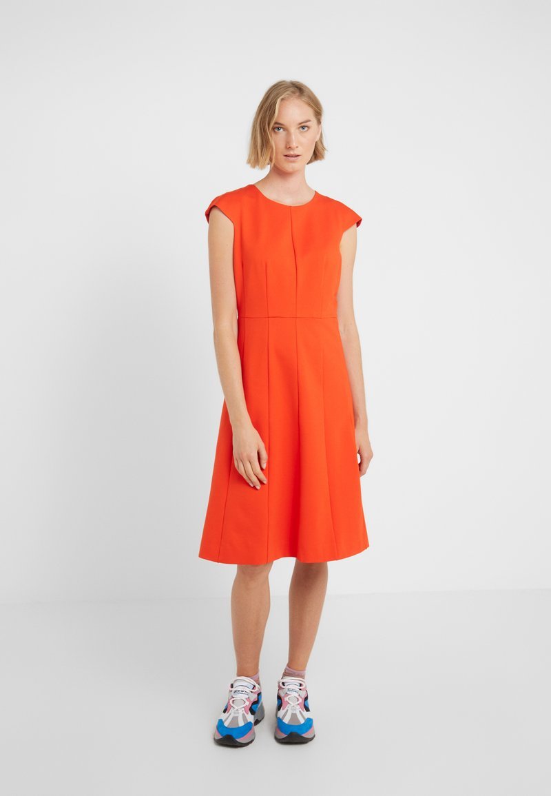 J.CREW - MATHILDE DRESS STRETCH SUITING - Jersey dress - bold red