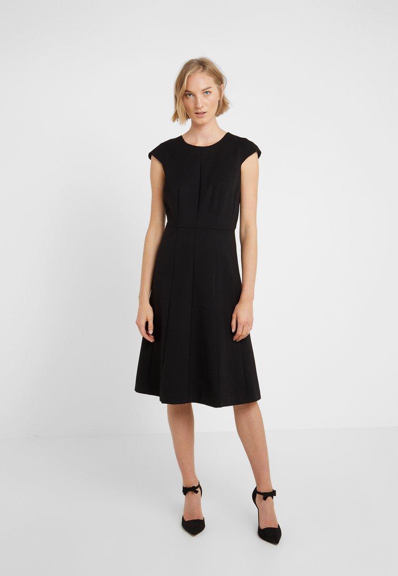 J.CREW - MATHILDE DRESS STRETCH SUITING - Jersey dress - black