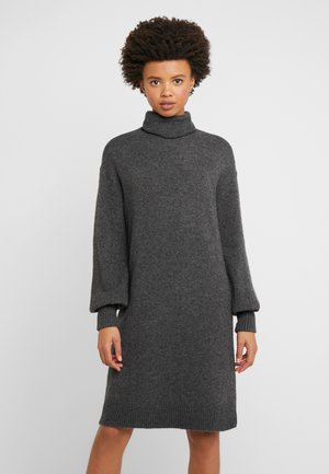 SUPERSOFT TURTLENECK DRESS - Strikket kjole - charcoal