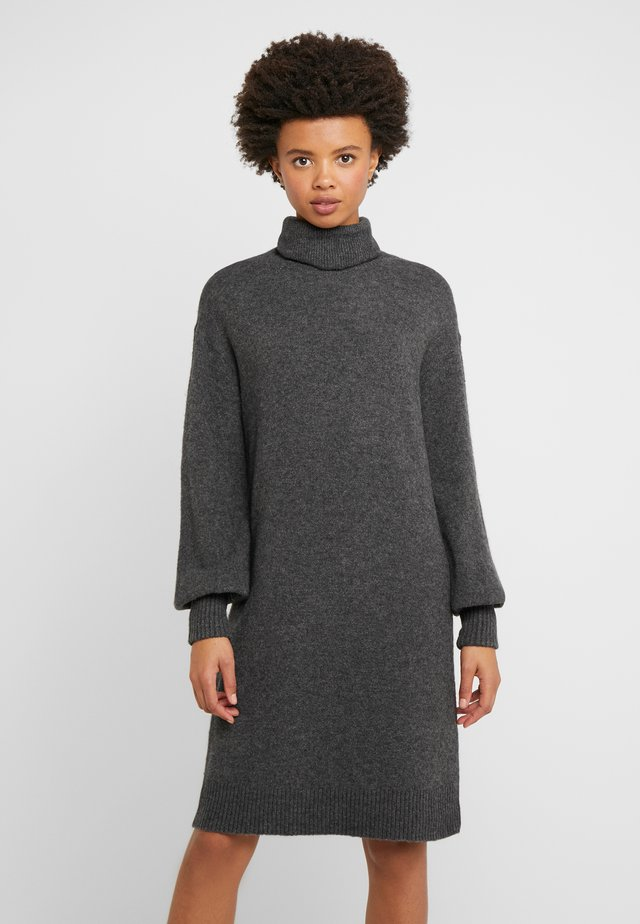 SUPERSOFT TURTLENECK DRESS - Sukienka dzianinowa - charcoal