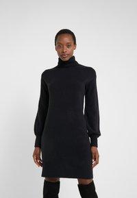 J.CREW - SUPERSOFT TURTLENECK DRESS - Gebreide jurk - black - 0