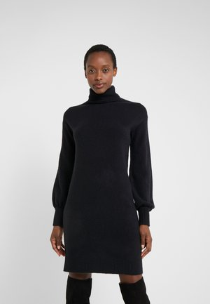 SUPERSOFT TURTLENECK DRESS - Gebreide jurk - black