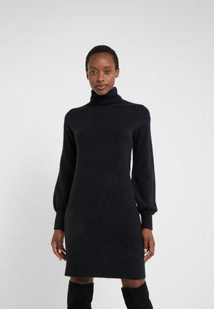 SUPERSOFT TURTLENECK DRESS - Sukienka dzianinowa - black