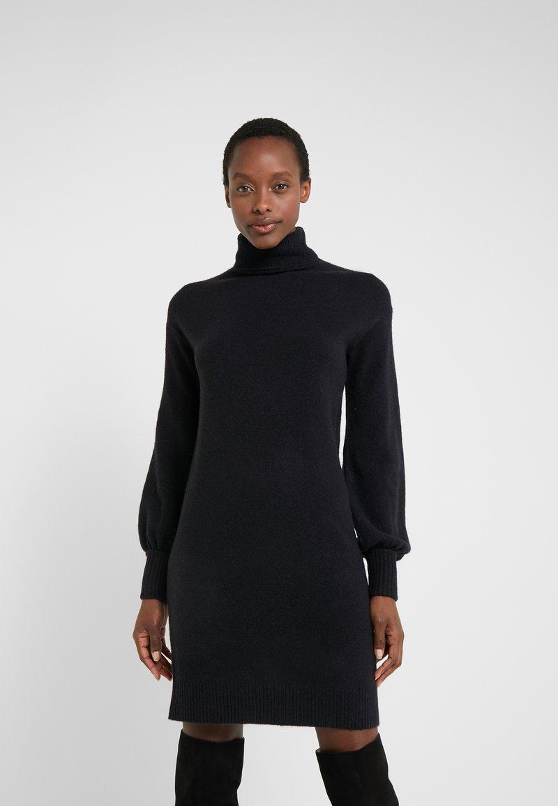 J.CREW - SUPERSOFT TURTLENECK DRESS - Jumper dress - black